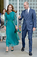 Prince William Duke of Cambridge and Kate Middleton Duchess of Cambridge Visit the Aga Khan Centre