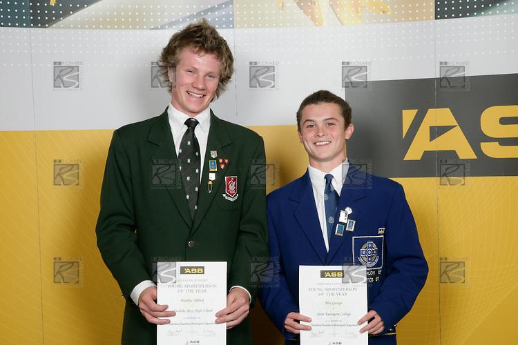 Boys Triathlon finalists Bradley Aldrich & Alex George. ASB College Sport Young Sportperson of the Year Awards 2007 held at Eden Park on November 15th, 2007.