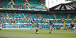 Plenty of empty seats at Celtic Park during the match