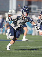 Washington, DC - February 27, 2018: Georgetown Hoyas Peter Tagliaferri (2) in action during game between Mount St. Mary's and Georgetown at  Cooper Field in Washington, DC.   (Photo by Elliott Brown/Media Images International)