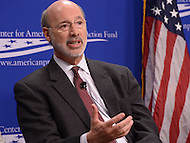 Washington, DC - February 19, 2016: Gov. Tom Wolf of Pennsylvania participates in a panel discussion on climate and clean energy at the Center for American Progress in the District of Columbia, February 19, 2016. (Photo by Don Baxter/Media Images International)
