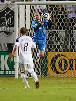 CARSON, CA - September 17, 2011: LA Galaxy goalie Josh Saunders (12) during the match between LA Galaxy and Vancouver Whitecaps at the Home Depot Center in Carson, California. Final score LA Galaxy 3, Vancouver Whitecaps 0.