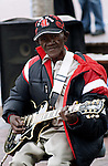 A street musician on the Alfred and Victoria Waterfront in Capetown. April 2009