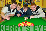 POOL: Some of the organisers of the KDYS County Pool Tournament who were practising at the KDYS Listowel this week were l-r: Alan Sugrue, Oliver Porter, Eddie Joe Walsh & Mike McCarthy.   Copyright Kerry's Eye 2008