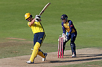 Chris Morris of Hampshire is bowled by Simon Harmer during Hampshire vs Essex Eagles, Vitality Blast T20 Cricket at the Ageas Bowl on 25th August 2019