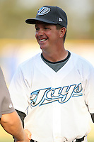 April 10th 2009:  Coach Al LeBoeuf of the Dunedin Blue Jays, Florida State League Class-A affiliate of the Toronto Blue Jays, during a game at Dunedin Stadium in Dunedin, FL.  Photo by:  Mike Janes/Four Seam Images