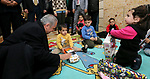 Palestinian Prime Minister Mohammad Ishtayeh, visits the sisters of Charity Mar Mansour (Al-Quraish), in the West Bank city of Bethlehem, on January 18, 2020. Photo by Prime Minister Office