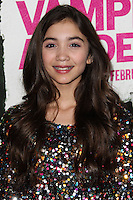 "LOS ANGELES, CA - FEBRUARY 04: Rowan Blanchard at the Los Angeles Premiere Of The Weinstein Company's ""Vampire Academy"" held at Regal Cinemas L.A. Live on February 4, 2014 in Los Angeles, California. (Photo by Xavier Collin/Celebrity Monitor)"