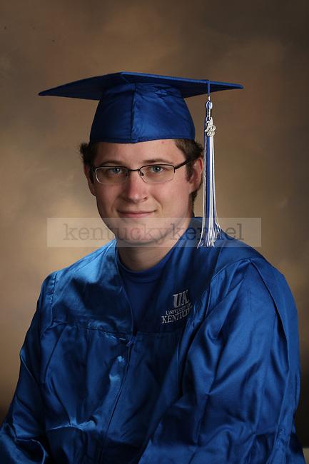 Plas, Michael graduation portrait taken at the fall Grad Salute at the University of Kentucky in Lexington, Ky., on 10/2/13.