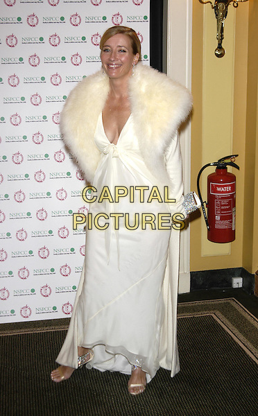 EMMA THOMPSON.Awards of the London Film Critics' Circle ( ALF ).Best British Actress in a supporting role.11 February 2004.full length, full-length, award winner, long white dress, fur collar coat.www.capitalpictures.com.sales@capitalpictures.com.©Capital Pictures