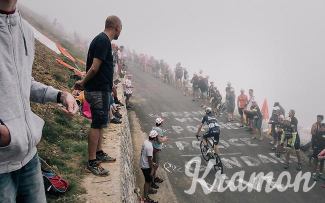 Damien Howson (AUS/ORICA-Scott) up the Port de Bal&egrave;s (HC/1755m/11.7km/7.7%)<br /> <br /> 104th Tour de France 2017<br /> Stage 12 - Pau &rsaquo; Peyragudes (214km)