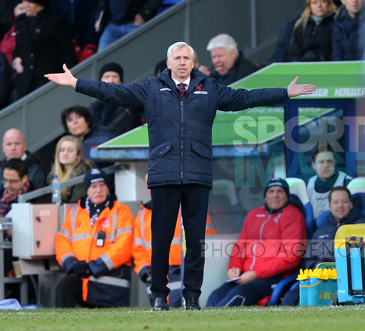 Crystal Palace's Alan Pardew looks on <br /> <br /> Barclays Premier League - Crystal Palace  vs Arsenal  - Selhurst Park - England - 21st February 2015 - Picture David Klein/Sportimage