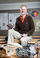 Occidental College Geology Professor Scott Bogue, photographed January 5, 2011. (Photo by Marc Campos, College Photographer)