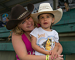 Jessica and three-year-old Allison during the Reno Rodeo Nevada Pink Night on Friday, June 28, 2019.