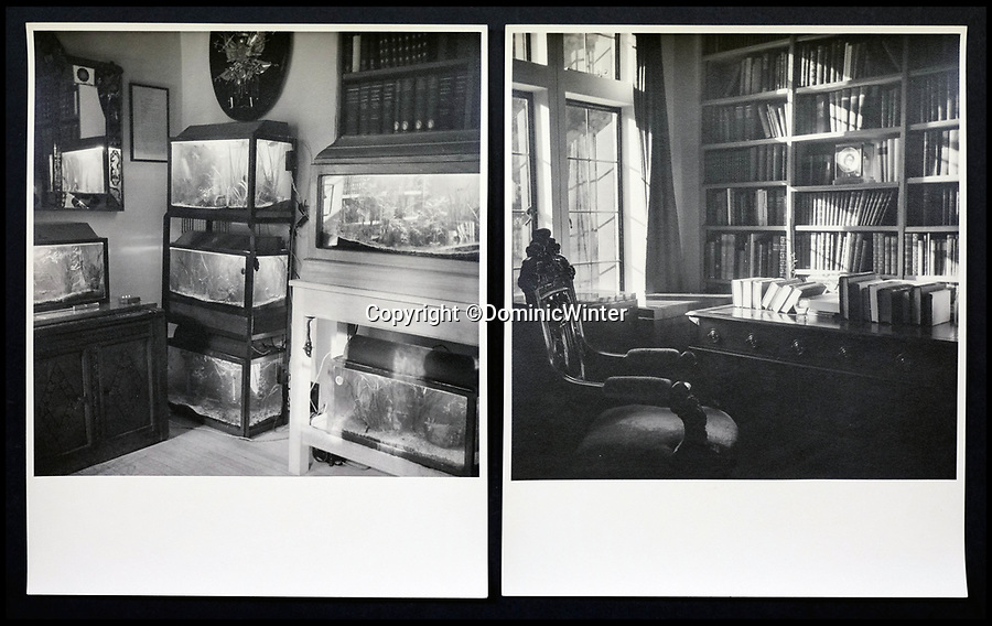 BNPS.co.uk (01202 558833)<br /> Pic:  DominicWinter/BNPS<br /> <br /> Inside Churchill's Chartwell residence.<br /> <br /> Charming photos of Winston Churchill with his grandchildren have emerged for sale - alongside one of his trademark cigars.<br /> <br /> The candid snaps reveal Churchill enjoying the company of his wife Clementine and their grandchildren at Chartwell, their family home.<br /> <br /> They were taken in 1951, at which point he had just been re-installed as Prime Minister after a six year absence.<br /> <br /> The partly-smoked cigar was taken by a naval officer as a memento of the British wartime leader's stay on board HMS Pembroke in 1943.