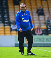 Lincoln City kit man Dick Tacey<br /> <br /> Photographer Andrew Vaughan/CameraSport<br /> <br /> The EFL Sky Bet League Two - Port Vale v Lincoln City - Saturday 14th April 2018 - Vale Park - Burslem<br /> <br /> World Copyright &copy; 2018 CameraSport. All rights reserved. 43 Linden Ave. Countesthorpe. Leicester. England. LE8 5PG - Tel: +44 (0) 116 277 4147 - admin@camerasport.com - www.camerasport.com