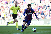 18th March 2018, Camp Nou, Barcelona, Spain; La Liga football, Barcelona versus Athletic Bilbao; Lionel Messi of FC Barcelona gets into the box