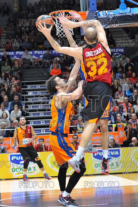 Lucic vs Guler<br /> Euroleague - 2014/15<br /> Regular season Round 7<br /> Valencia Basket vs Galatasaray