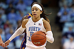 30 December 2014: North Carolina's Jessica Washington. The University of North Carolina Tar Heels hosted the University at Albany Great Danes at Carmichael Arena in Chapel Hill, North Carolina in a 2014-15 NCAA Division I Women's Basketball game. UNC won the game 71-56.