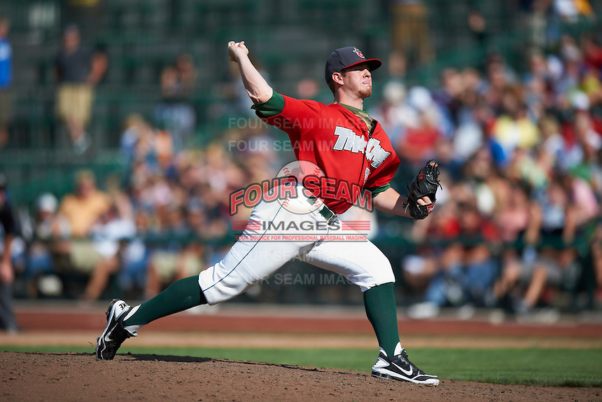 Fort Wayne TinCaps pitcher Johnny Barbato #26 during a Midwest League game against the Dayton Dragons at Parkview Field on August 19, 2012 in Fort Wayne, Indiana.  Dayton defeated Fort Wayne 5-1.  (Mike Janes/Four Seam Images)