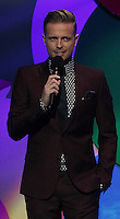20/11/13<br /> Nicky Byrne pictured presenting the Cheerios Childline Concert at the O2 Dublin this evening&eth;. <br /> Pic Collins Photos