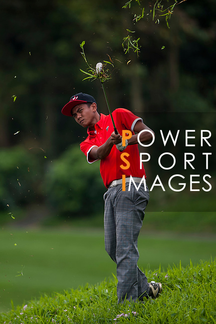 Daniel HJ Mohd Sidek of Malaysia in action at the 9th Faldo Series Asia Grand Final 2014 golf tournament on March 18, 2015 at Faldo course in Mid Valley clubhouse in Shenzhen, China. Photo by Xaume Olleros / Power Sport Images