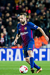 Jordi Alba Ramos of FC Barcelona in action during the Copa Del Rey 2017-18 Round of 16 (2nd leg) match between FC Barcelona and RC Celta de Vigo at Camp Nou on 11 January 2018 in Barcelona, Spain. Photo by Vicens Gimenez / Power Sport Images