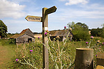 Wooden bridleway sign Ramsholt Suffolk England