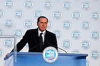 Il Presidente del Consiglio Silvio Berlusconi apre la Direzione Nazionale del PdL a Roma, 4 novembre 2010..Italian Premier Silvio Berlusconi speaks during the National Direction of the People of Freedom (PdL) center-right party in Rome, 4 november 2010..UPDATE IMAGES PRESS/Riccardo De Luca