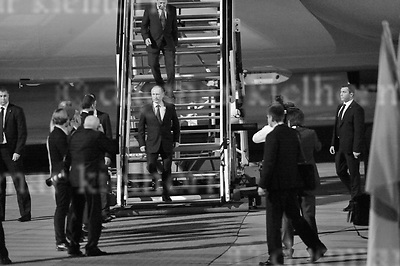 July 07-17,HH Airport, Hamburg,Germany<br /> G20 world leaders arrival at Hamburg Airport.<br /> Russian President Vladimir Putin landed in Hamburg late Thursday night for the G20 summit