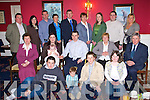 CHRISTENING PARTY: Proud parents Olivia and David O'Keeffe, Lewis Road, Killarney, celebrated the christening of their daughter Sylvia in the Dromhall Hotel on Saturday with family and friends. Front l-r: Stephen Whyte, Dylan O'Keeffe, Brendan and Ciara Whyte. Middle l-r: Mary O'Keeffe, Olivia, baby Sylvia and David O'Keeffe, Olivia and Paul Fogarty. Back l-r: David Whyte, Edwina Vaughan, Jason O'Donoghue, Joanne O'Sullivan, James Goff, Annette Whyte, Aileen Goff, Paul O'Keeffe and Maeve O'Callaghan.   Copyright Kerry's Eye 2008