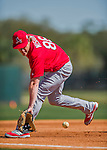 4 March 2016: St. Louis Cardinals infielder Patrick Wisdom warms up prior to a Spring Training pre-season game against the Houston Astros at Osceola County Stadium in Kissimmee, Florida. The Cardinals fell to the Astros 6-3 in Grapefruit League play. Mandatory Credit: Ed Wolfstein Photo *** RAW (NEF) Image File Available ***