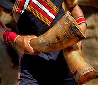 Mizoram a state in North East India is home to several tribes each having a unique cultural identity. This portrait showcases the beauty of traditional tribal costume and musical instruments.