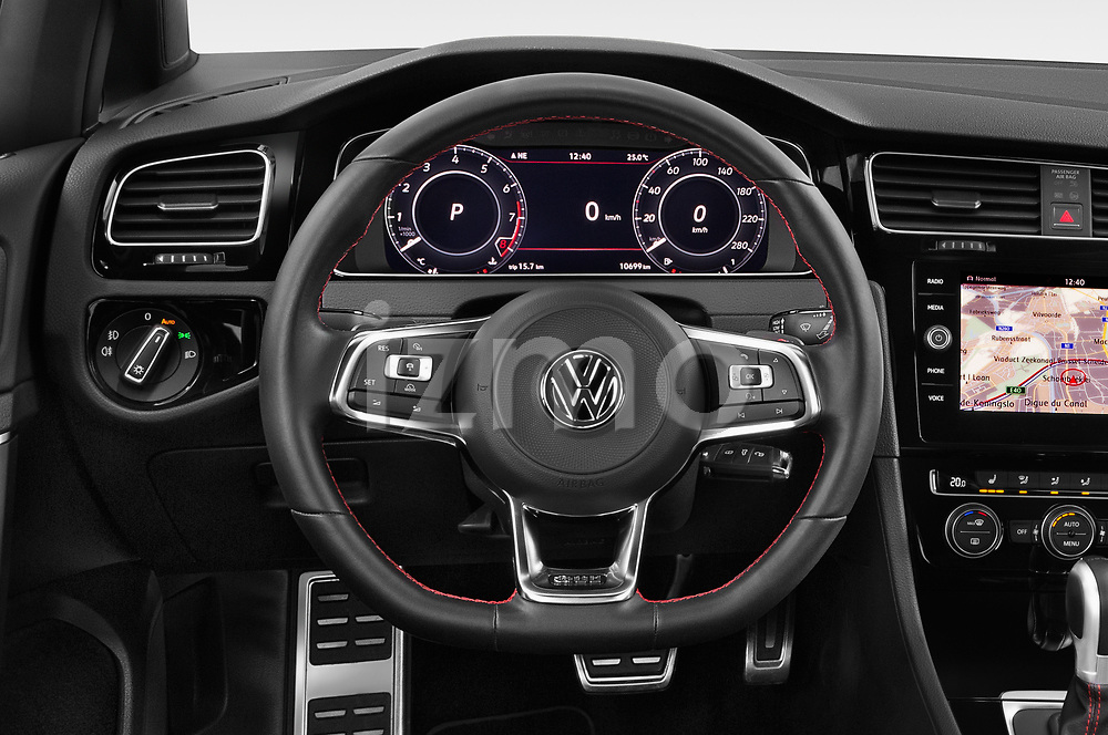 Car pictures of steering wheel view of a 2018 Volkswagen Golf-GTI-Performance - 5 Door Hatchback Steering Wheel