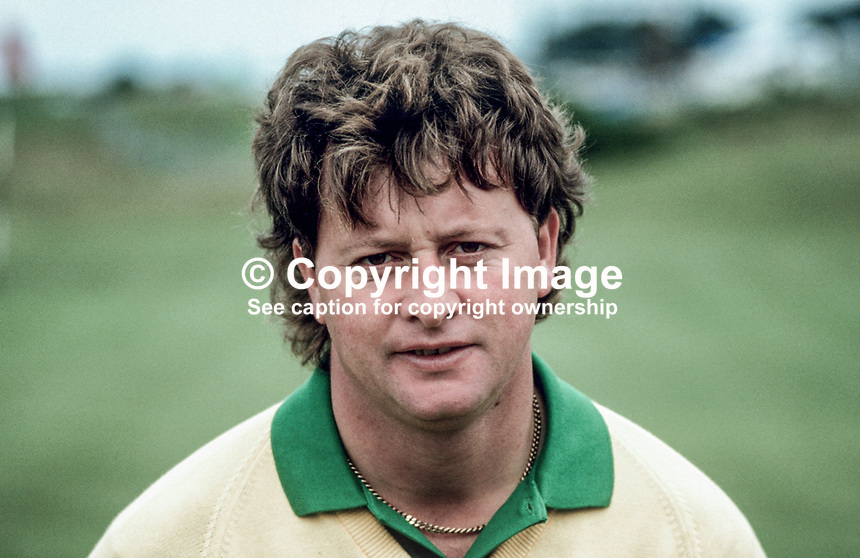 Ian Woosnam, professional golfer, Wales, Irish Open, Druids Glen, Co Wicklow, Ireland, 19870705IW1.<br /> <br /> Copyright Image from Victor Patterson, Belfast, UK, BT9 5HG<br /> <br /> t: +44 28 9066 1296 (from Rep of Ireland 048 9066 1296)<br /> m: +44 7802 353836<br /> <br /> victorpattersonbelfast@gmail.com<br /> www.victorpatterson.com<br /> <br /> Please see my Terms and Conditions of Use at https://www.victorpatterson.com/page2<br /> It is IMPORTANT that you familiarise yourself with them.<br /> <br /> Images used on the Internet incur an additional cost and must be visibly watermarked i.e. © Victor Patterson within the body of the image and copyright metadata must not be deleted. Images used on the Internet have a size restriction of 4kbs and are chargeable at rates available at victorpatterson.com.<br /> <br /> This image is only available for the use of the download recipient i.e. television station, newspaper, magazine, book publisher, etc, and must not be passed on to any third party. It is also downloaded on condition that each and every usage is notified within 7 days to victorpattersonbelfast@gmail.com.<br /> <br /> The right of Victor Patterson to be identified as the author is asserted in accordance with The Copyright Designs And Patents Act (1988). All moral rights are asserted.
