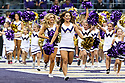 SEATTLE, WA - September 22:  Washington cheerleader Alisa Yoshikawa entertained fans during the college football game between the Washington Huskies and the Arizona State Sun Devils on September 22, 2018 at Husky Stadium in Seattle, WA. Washington won 27-20 over Arizona State.