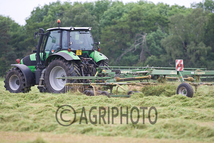 Making silage to feed dairy cows