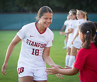 STANFORD, CA - August 30, 2019: Sam Tran at Maloney Field at Laird Q. Cagan Stadium. The Cardinal defeated the University of Pennsylvania Quakers 5-1.