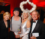 Alana Glass, Ron and Dixie Friend Gay and Sherman Glass at the Orange Show Gala at Adickes SculpturWorx Studio  Saturday  Nov. 03,2007.(Dave Rossman/For the Chronicle)