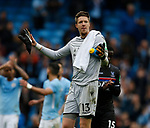 Wayne Hennessey of Crystal Palace holds his arms out in frustration during the premier league match at the Etihad Stadium, Manchester. Picture date 22nd September 2017. Picture credit should read: Simon Bellis/Sportimage