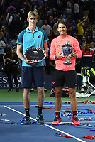 FLUSHING NY- SEPTEMBER 10: Kevin Anderson and Rafael Nadal at the US Open Men's Final Championship match at the USTA Billie Jean King National Tennis Center on September 10, 2017 in Flushing, Queens. <br /> CAP/MPI/PAL<br /> &copy;PAL/MPI/Capital Pictures