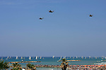 Israel, Tel Aviv-Yafo, the Air Force show on Independence Day, Sikorsky 53 helicopters