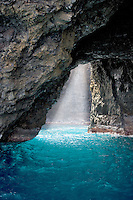 Cave off Napali Coast, Kauai, Hawaii