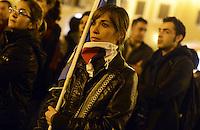 Roma 16 Novembre 2012.Piazza Montecitorio.Manifestazione contro il massacro a Gaza e i bombardamenti da parte dell'esercito israeliano sulla popolazione palestinese