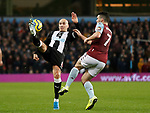 Jonjo Shelvey of Newcastle United tussles with John McGinn of Aston Villa during the Premier League match at Villa Park, Birmingham. Picture date: 25th November 2019. Picture credit should read: Darren Staples/Sportimage