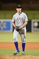 Surprise Saguaros pitcher Cody Kendall (31) during an Arizona Fall League game against the Glendale Desert Dogs on October 9, 2014 at Camelback Ranch in Phoenix, Arizona.  Surprise defeated Glendale 7-4.  (Mike Janes/Four Seam Images)