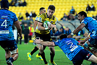 Beauden Barrett in action during the Super Rugby match between the Hurricanes and Blues at Westpac Stadium in Wellington, New Zealand on Saturday, 7 July 2018. Photo: Dave Lintott / lintottphoto.co.nz