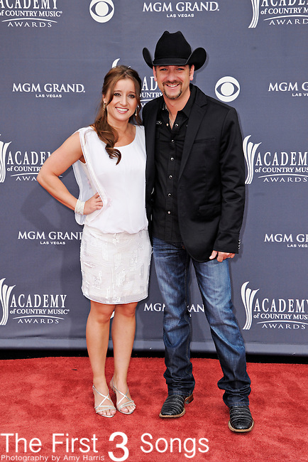 Craig Campbell and wife Mindy attend the 46th Annual Academy of Country Music Awards in Las Vegas, Nevada on April 3, 2011.