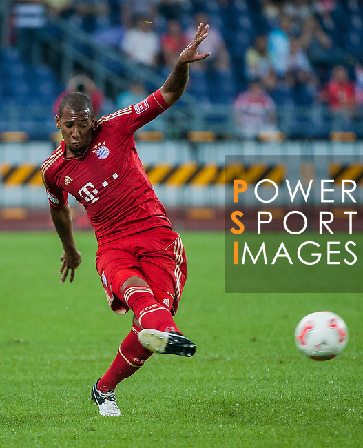 Jereme Boateng of Bayern Munich in action during a friendly match against VfL Wolfsburg as part of the Audi Football Summit 2012 on July 26, 2012 at the Guangdong Olympic Sports Center in Guangzhou, China. Photo by Victor Fraile / The Power of Sport Images