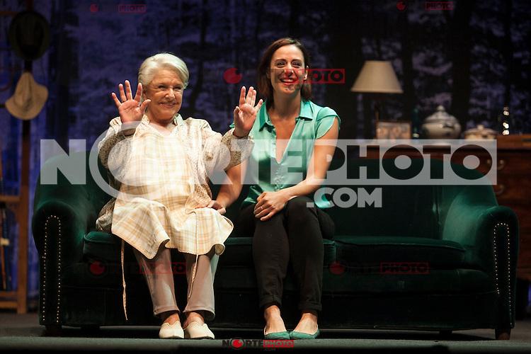 Spanish actresses Lola Herrera and Luz Valdenebro perform during `El lago dorado´ theater play in Madrid, Spain. August 17, 2015. (ALTERPHOTOS/Victor Blanco)